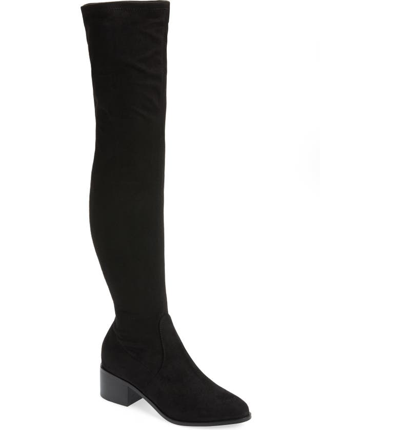 STEVE MADDEN Sadie Over the Knee Boot, Main, color, 001