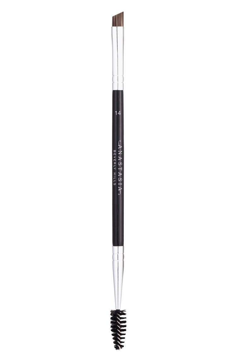 ANASTASIA BEVERLY HILLS #14 Dual-Sided Brow & Eyeliner Brush, Main, color, 000