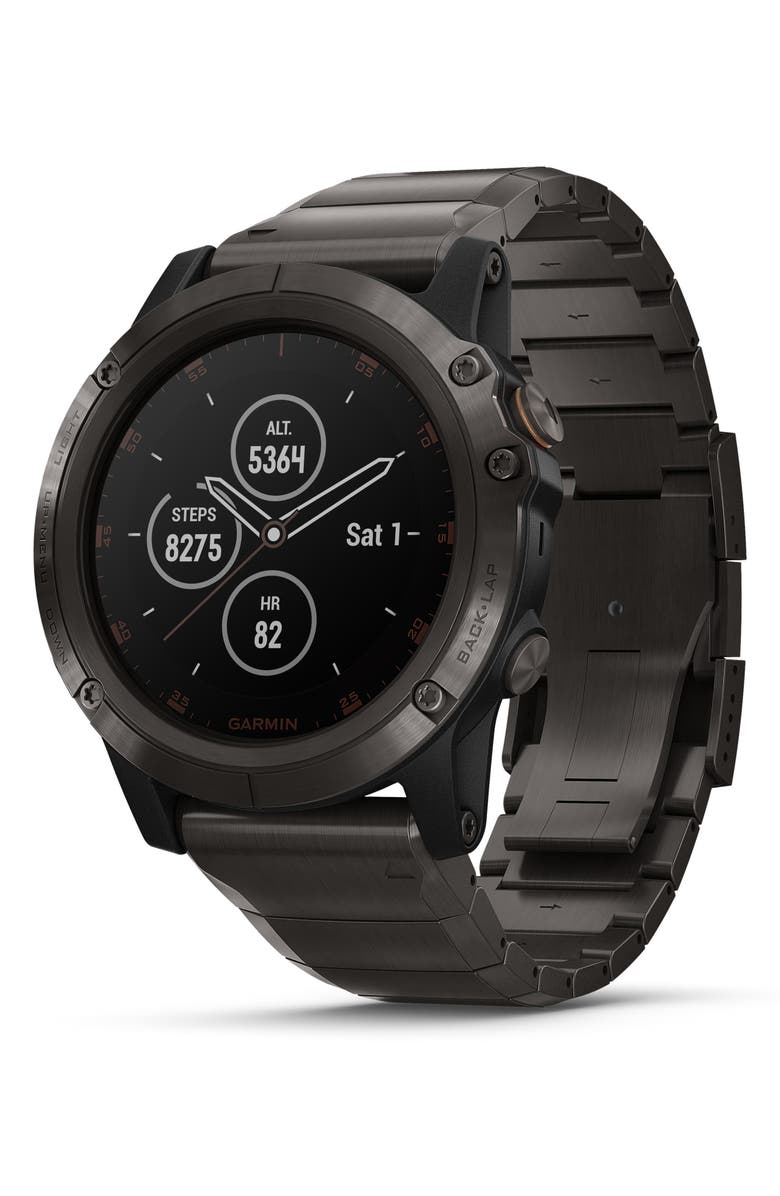 GARMIN fenix<sup>®</sup> 5X Plus Sapphire Premium Multisport GPS Watch, 51mm, Main, color, 020