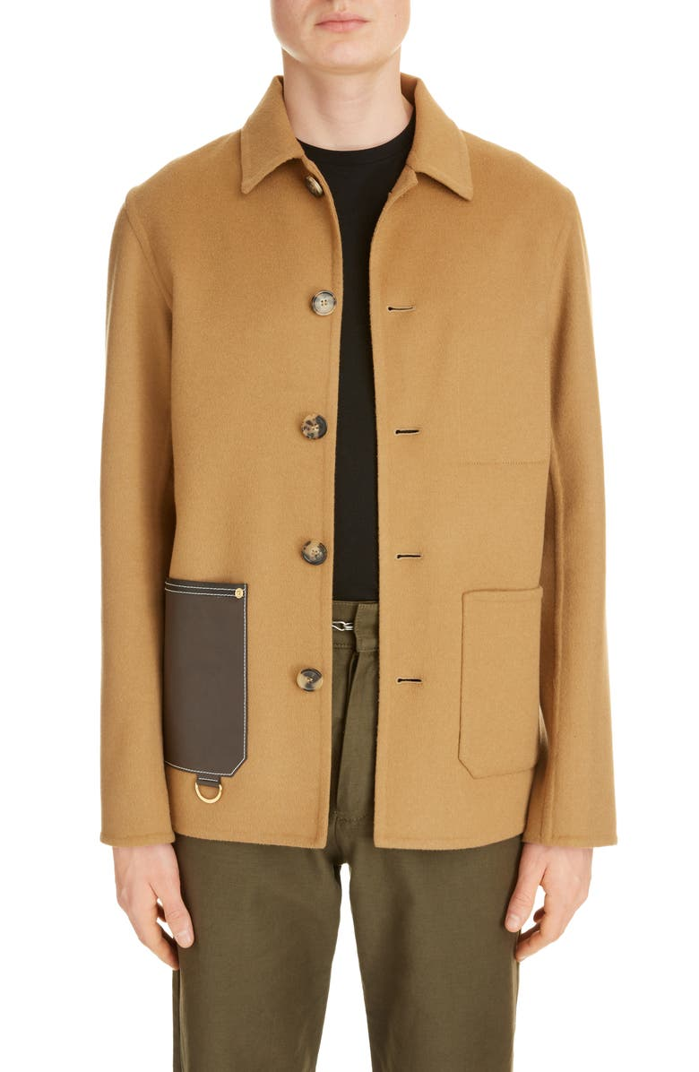 LOEWE Wool & Cashmere Button-Up Jacket, Main, color, 214