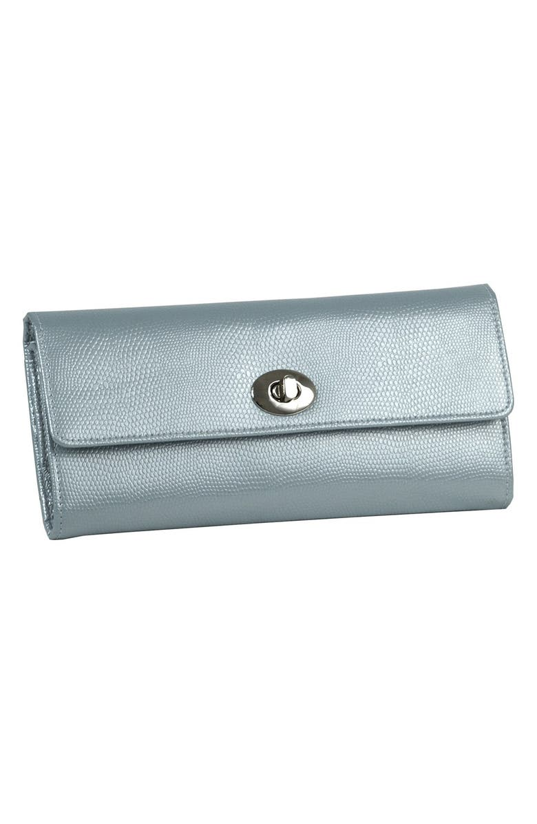 WOLF 'London' Jewelry Roll, Main, color, ICE BLUE