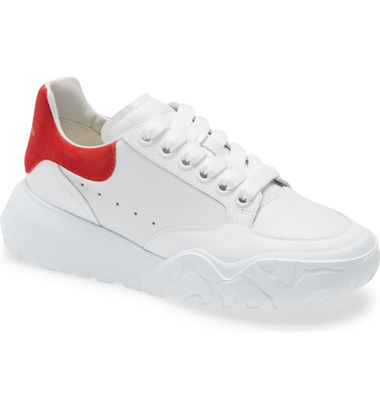 ALEXANDER MCQUEEN Oversized Low Top Sneaker, Main, color, RED/WHITE