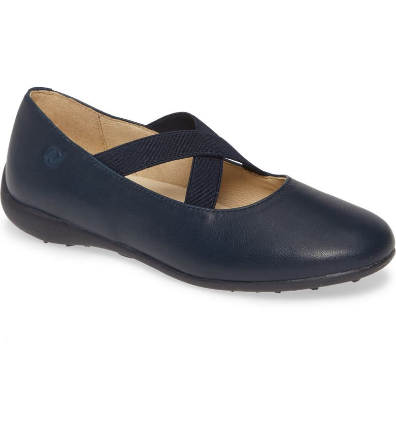 NATURINO Matera Flat, Main, color, BLUE LEATHER