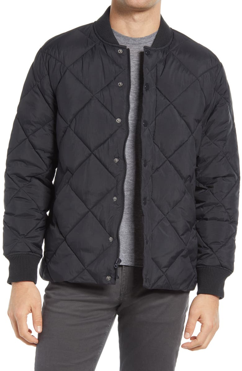 MADEWELL Quilted Puffer Jacket, Main, color, ALMOST BLACK