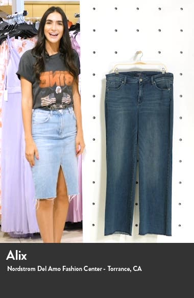 Teresa Fray Hem Wide Leg Jeans, sales video thumbnail