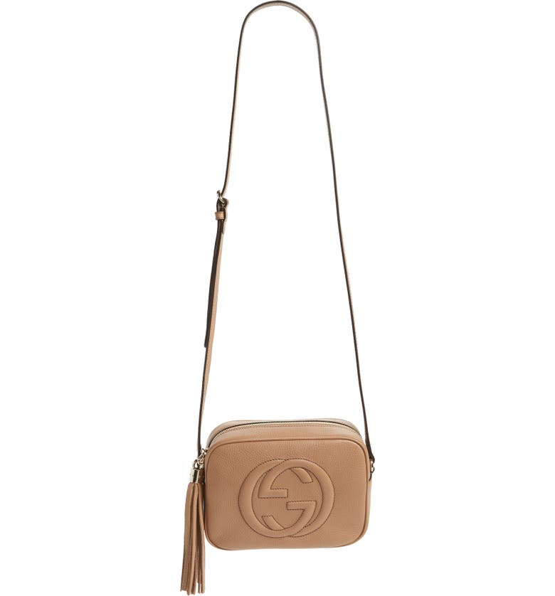 GUCCI Disco Leather Bag, Main, color, PINK