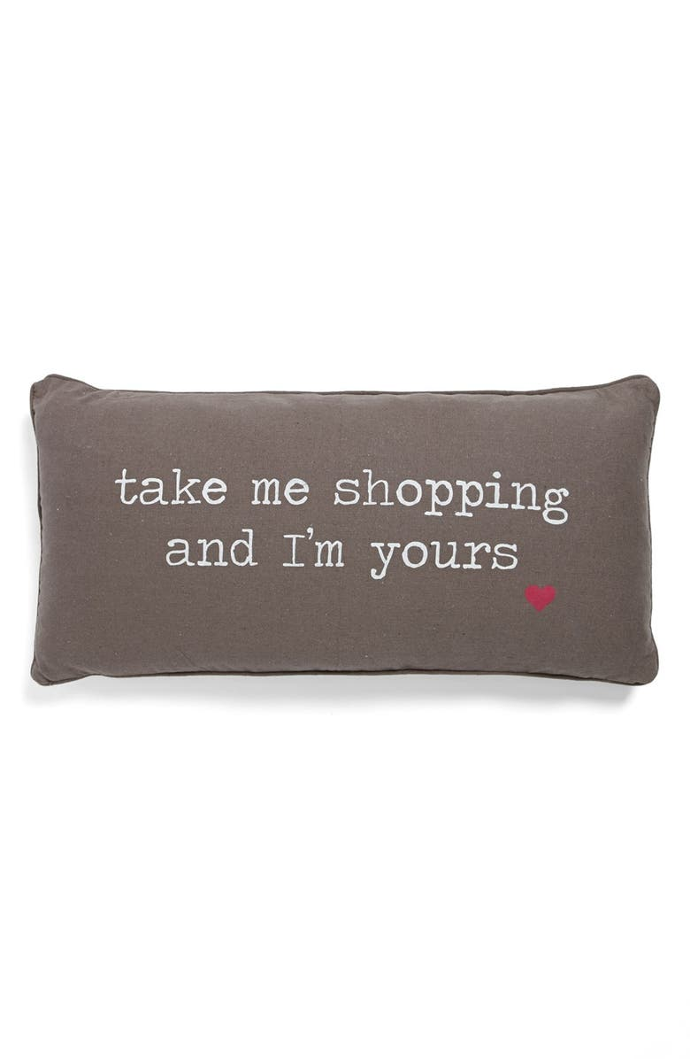 LEVTEX 'Take Me Shopping' Pillow, Main, color, 020