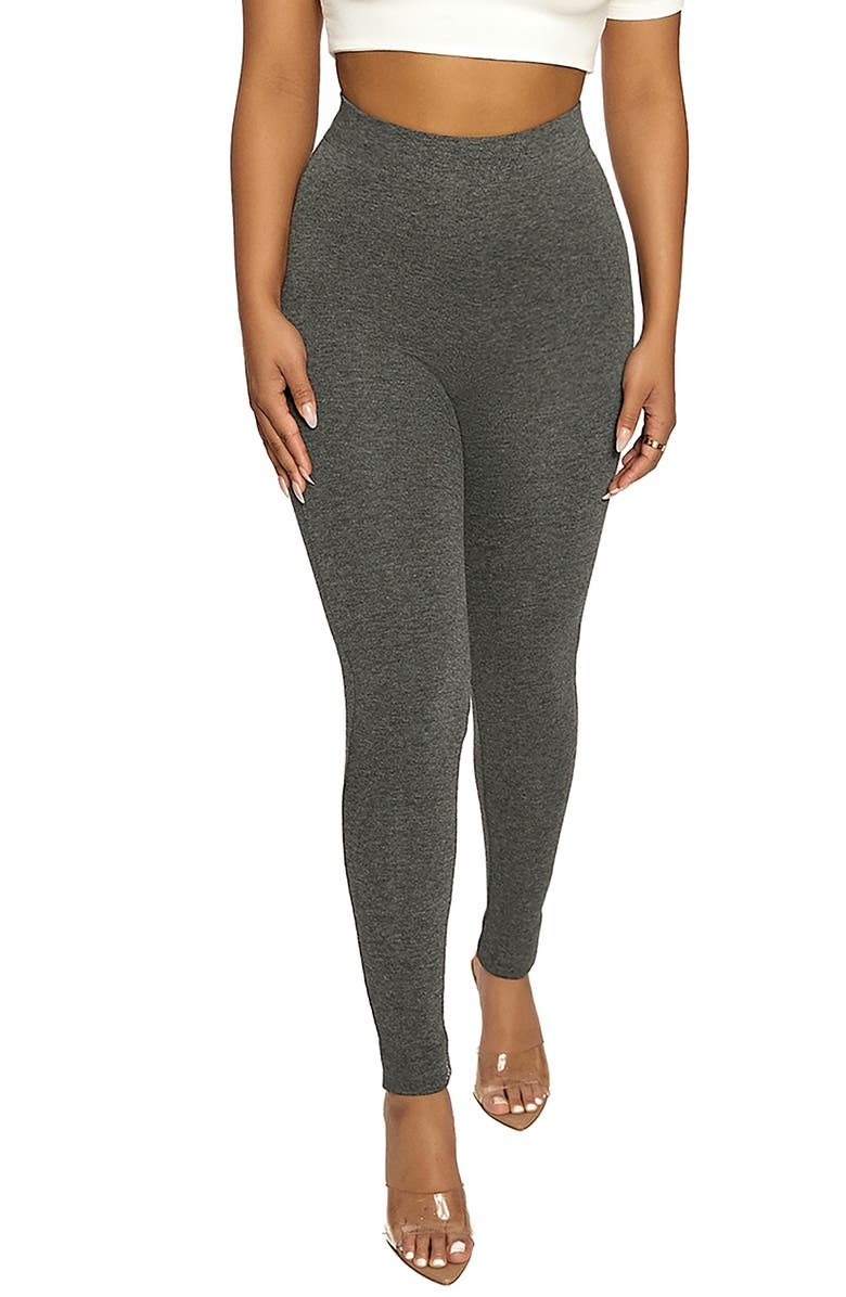 NAKED WARDROBE The NW High Waist Leggings, Main, color, CHARCOAL