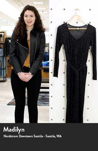 Long Sleeve Brushed Sweater Knit Jumpsuit, sales video thumbnail