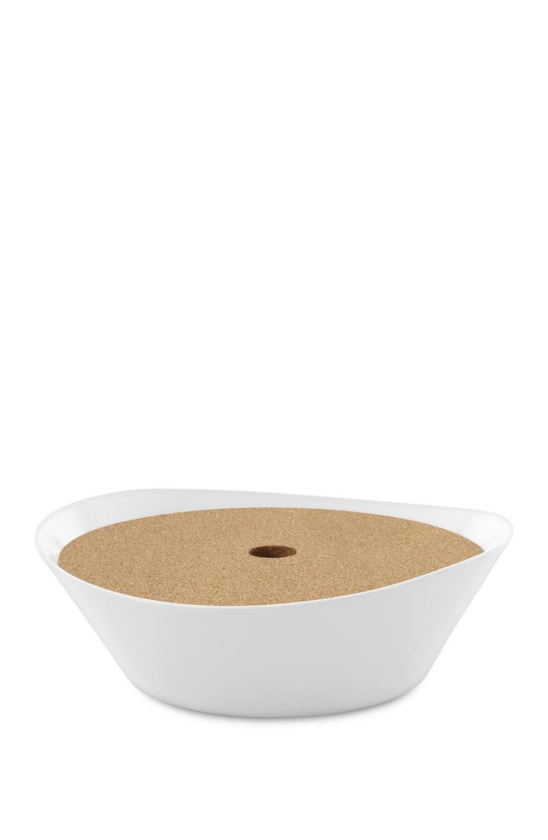 """BERGHOFF INTERNATIONAL Eclipse 11"""" Porcelain Covered Pasta Bowl, Main, color, WHITE"""