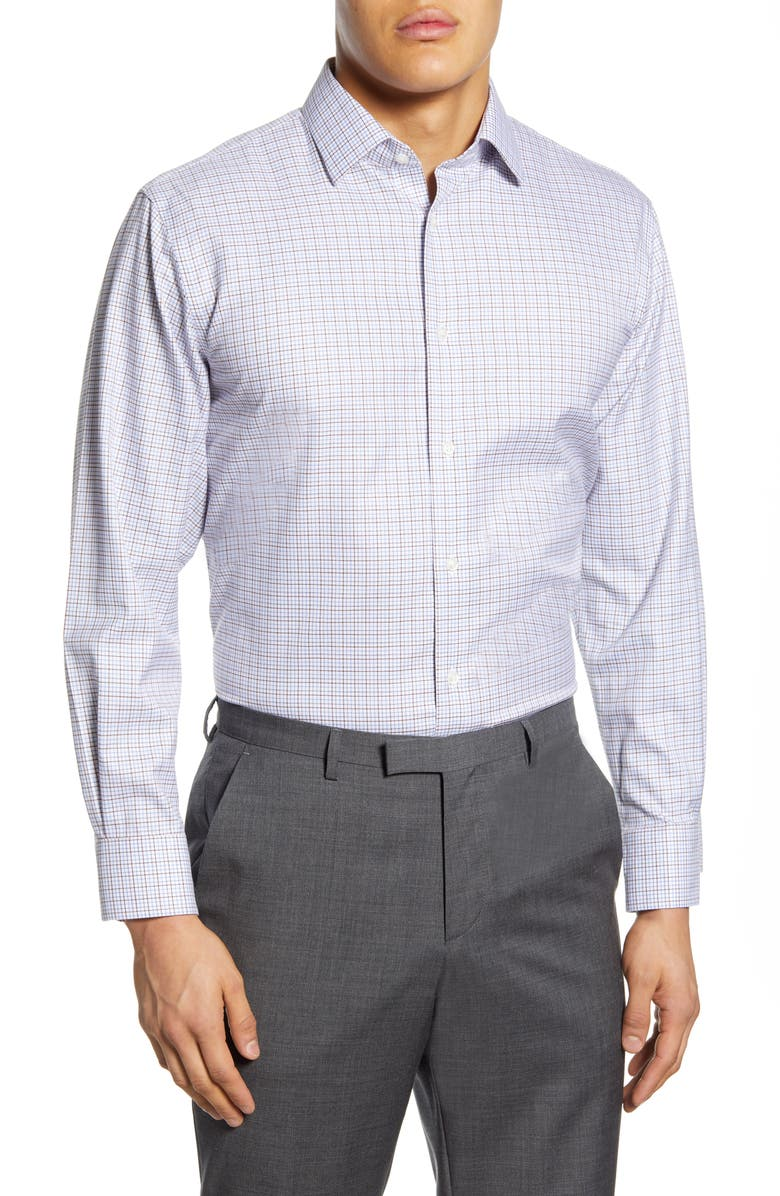 NORDSTROM Men's Shop Traditional Fit Non-Iron Check Dress Shirt, Main, color, 210