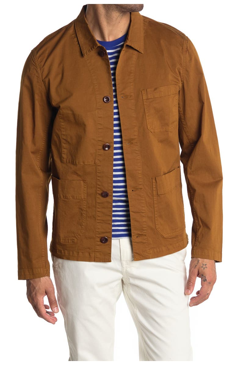 ALEX MILL Woven Work Jacket, Main, color, TOFFEE