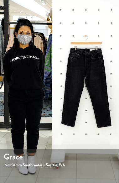 Maya Nonstretch High Waist Ankle Slim Jeans, sales video thumbnail