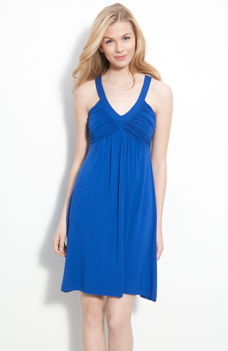 CALVIN KLEIN Ruched Bodice Jersey Dress, Main, color, 498