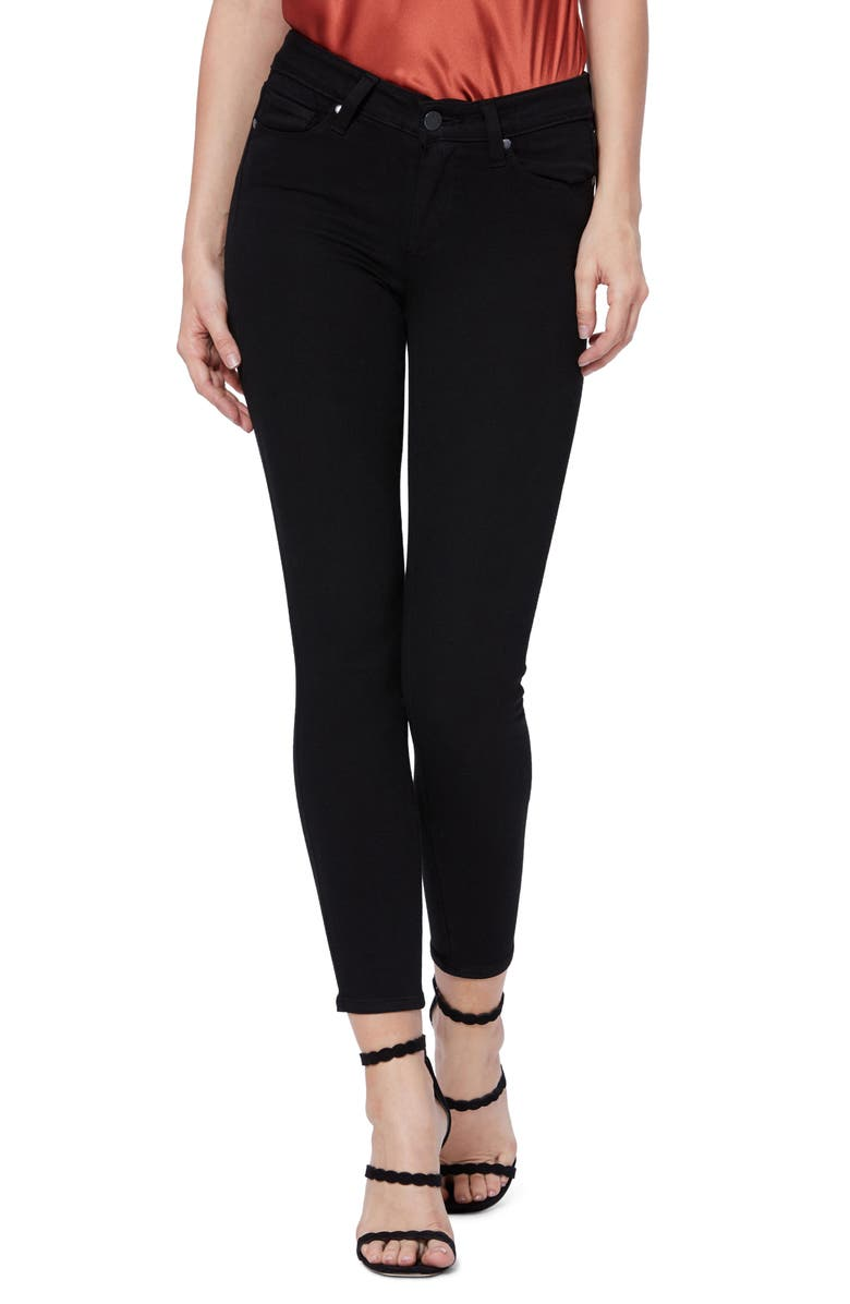 PAIGE Transcend - Verdugo Crop Skinny Jeans, Main, color, BLACK