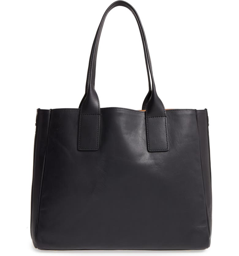 FRYE Ilana Leather Tote, Main, color, 001