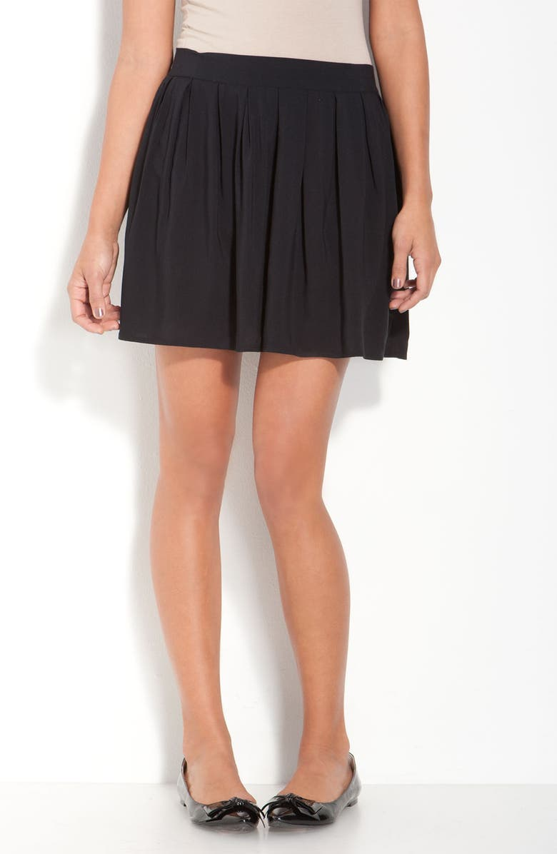 FRENCHI <sup>®</sup> Flowy Pleated Skirt, Main, color, 001