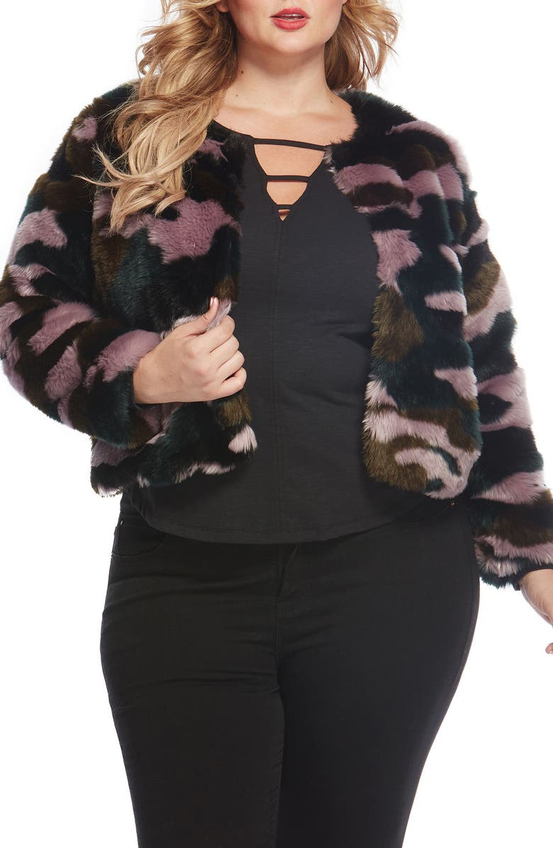 REBEL WILSON X ANGELS Faux Fur Jacket, Main, color, 591