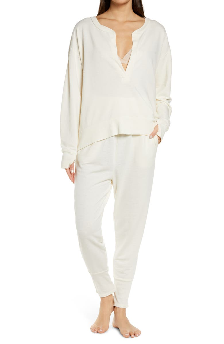 FREE PEOPLE Cozy Cool Girl Lounge Set, Main, color, IVORY