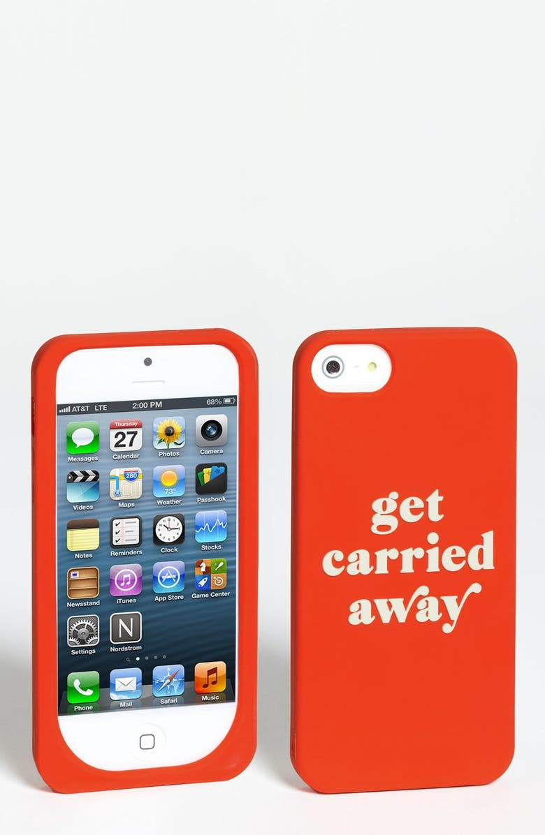 KATE SPADE NEW YORK 'get carried away' iPhone 5 & 5S case, Main, color, MARASCHINO