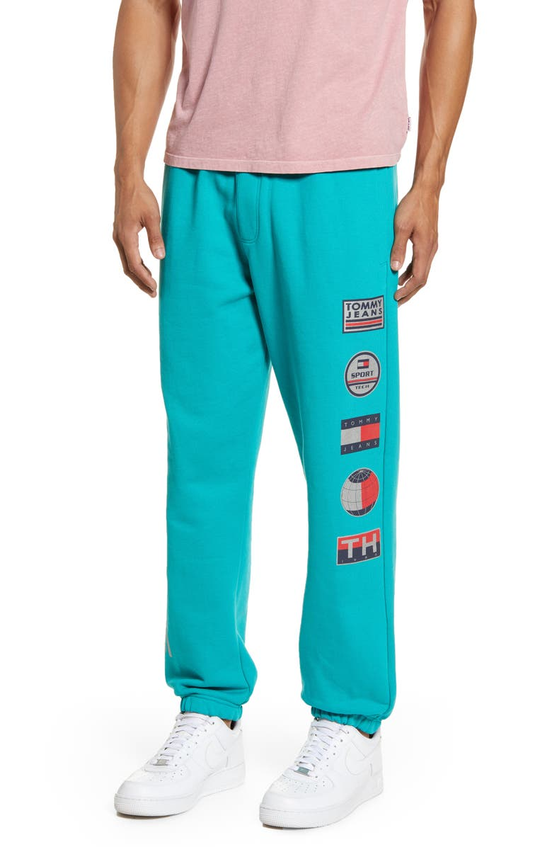 TOMMY JEANS TJM Sport Tech Logo Sweatpants, Main, color, 400