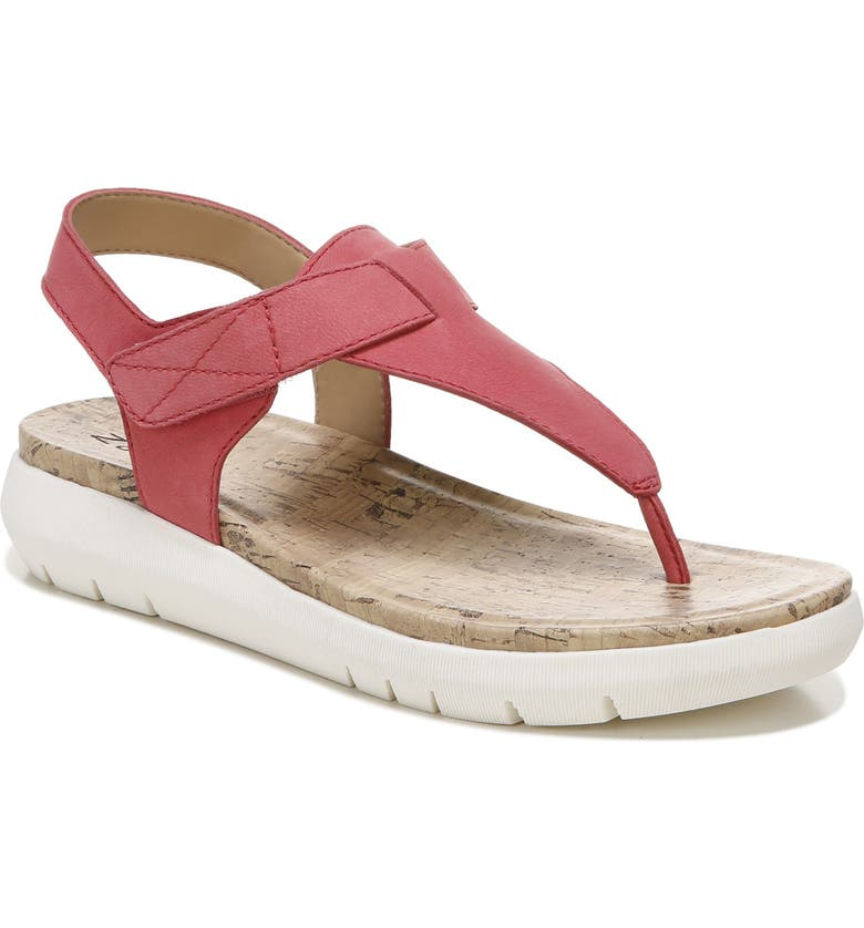 NATURALIZER Lincoln Sandal, Main, color, CORAL LEATHER