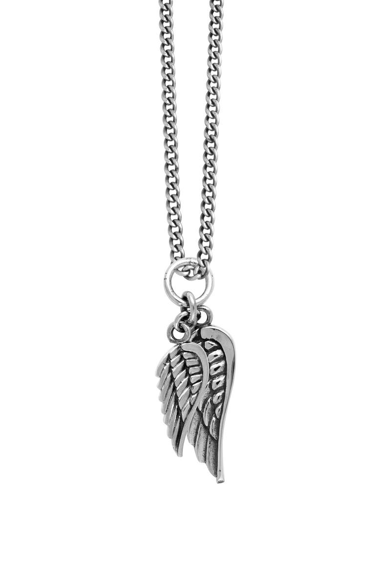 KING BABY Sterling Silver Wing Pendant Necklace, Main, color, 040