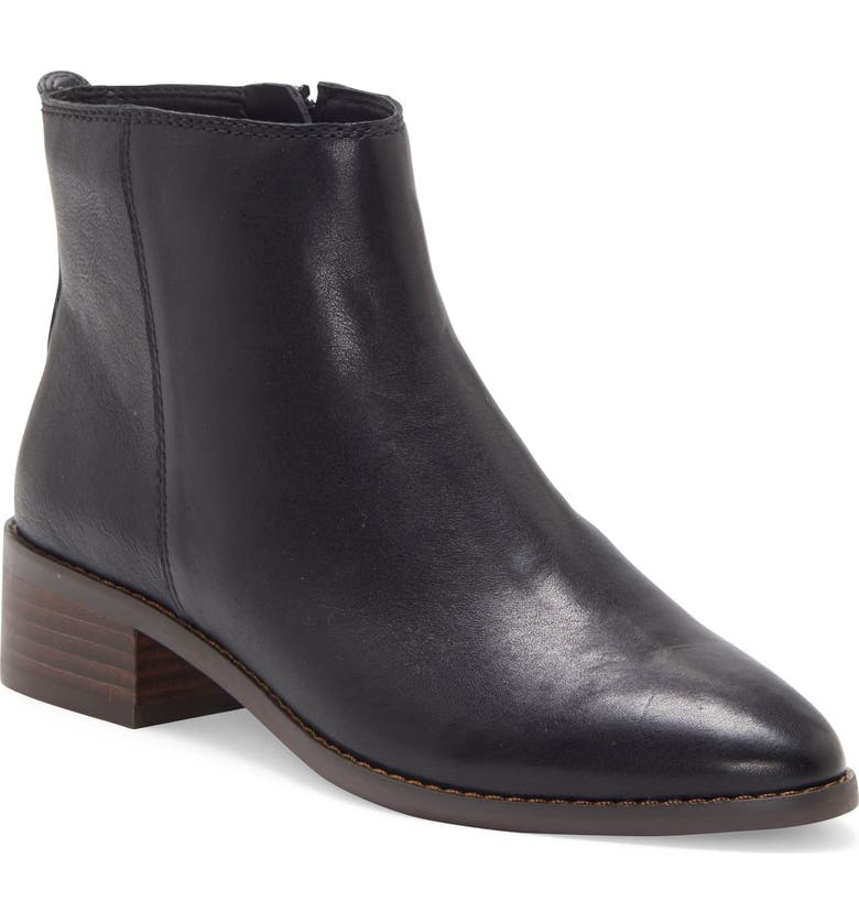 LUCKY BRAND Lenree Almond Toe Bootie, Main, color, 001