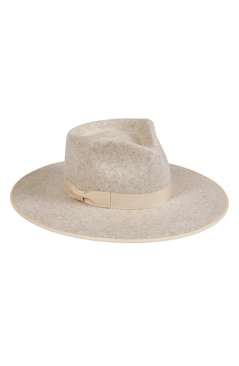 LACK OF COLOR Carlo Wool Rancher Hat, Main, color, SPECKLED GREY/ LIGHT GOLD