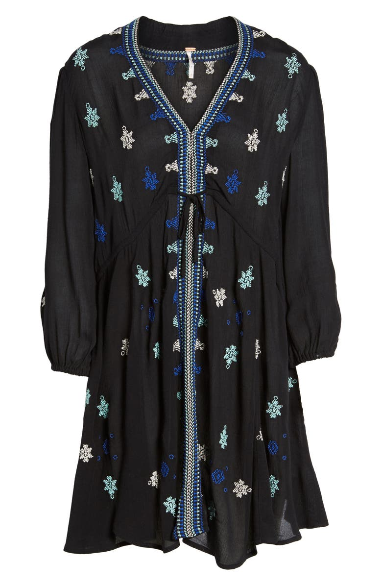 FREE PEOPLE 'Star Gazer' Embroidered Tunic Dress, Main, color, 001