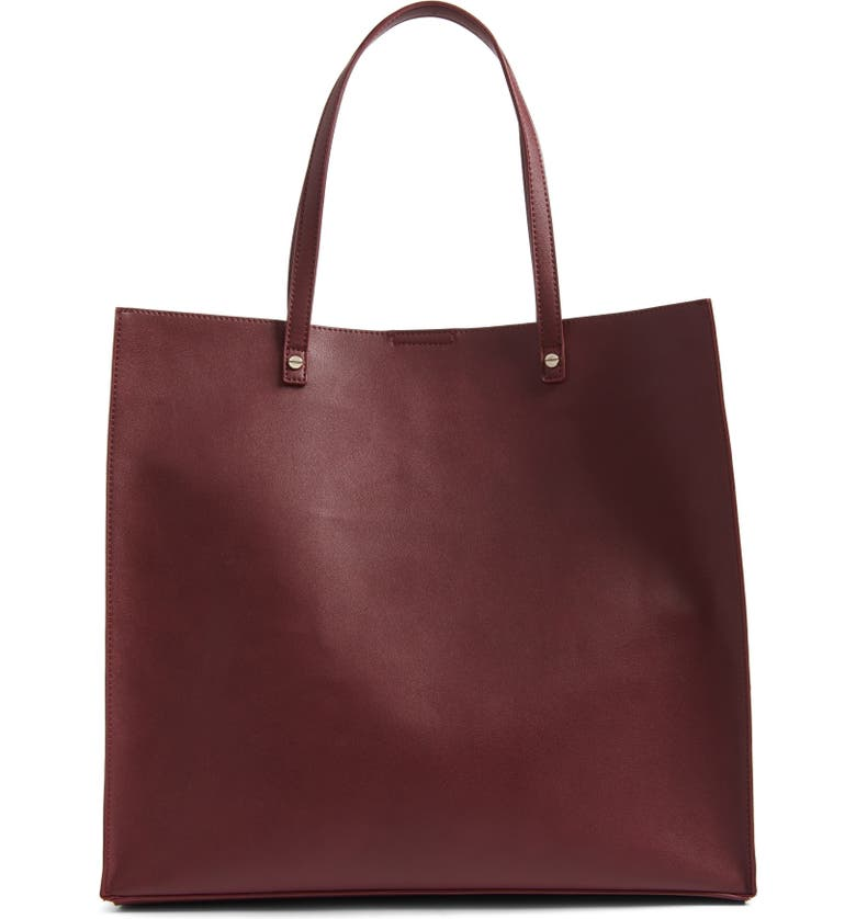 BP. Faux Leather Tote, Main, color, 930