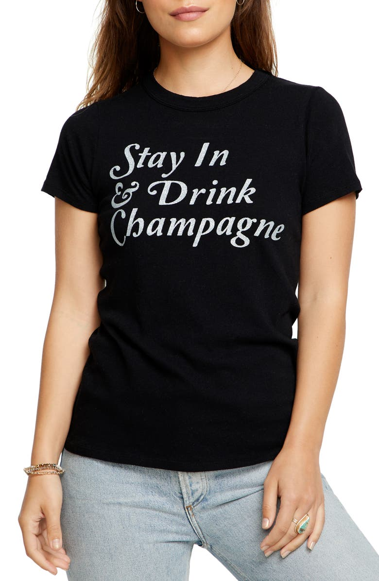 CHASER Stay In Graphic Tee, Main, color, 001