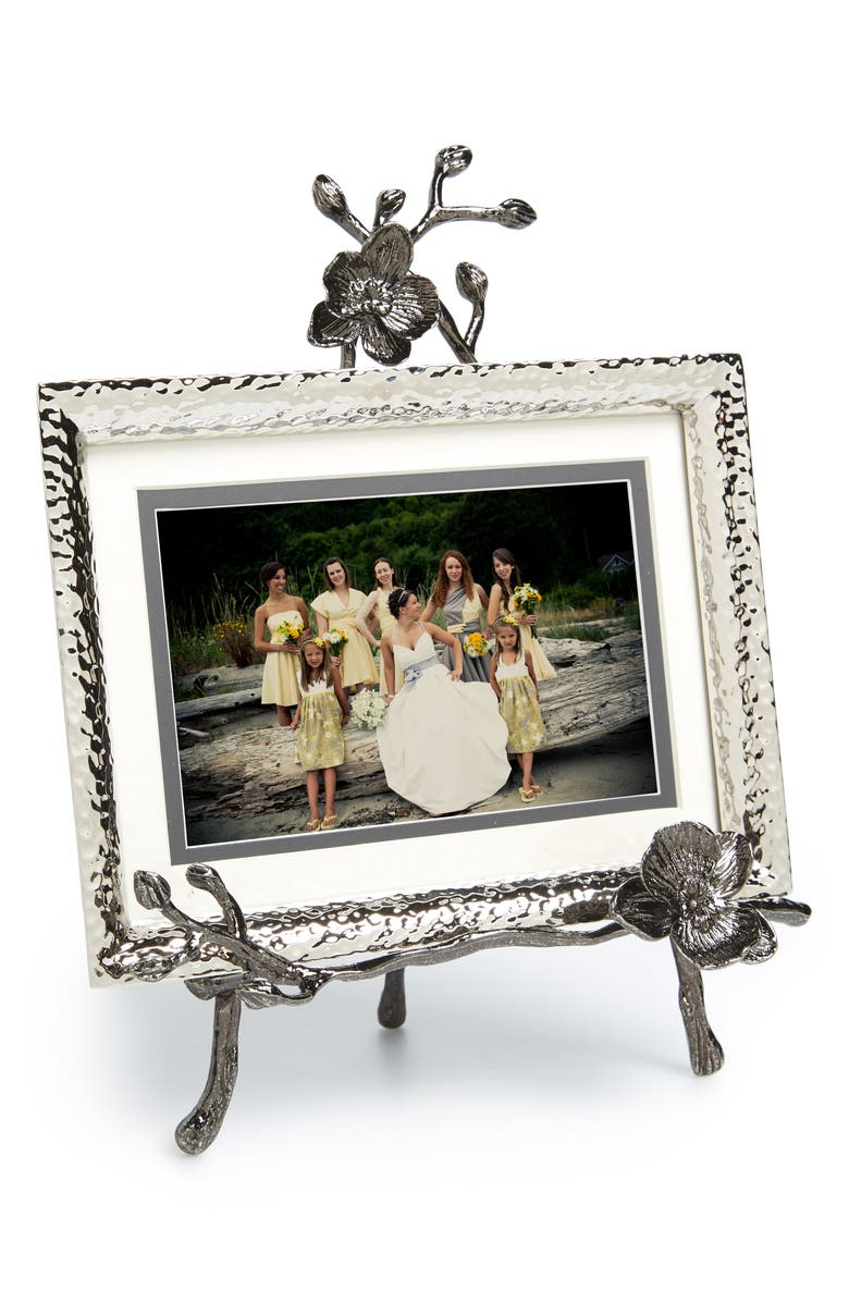 MICHAEL ARAM Black Orchid Convertible Easel Picture Frame, Main, color, 040