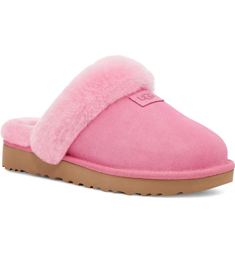 UGG<SUP>®</SUP> Genuine Shearling Slipper, Main, color, WILD BERRY