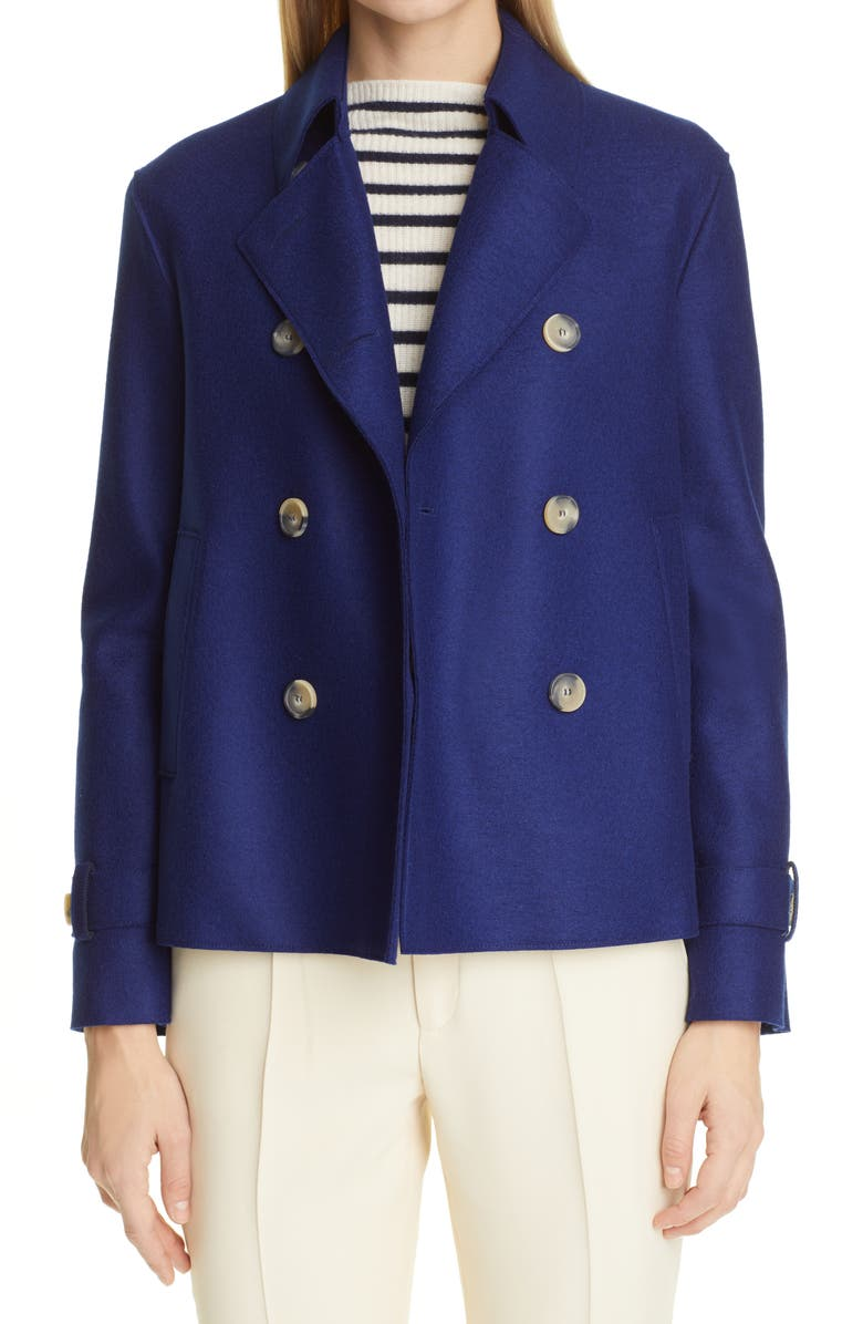 HARRIS WHARF LONDON Pressed Wool Crop Trench Coat, Main, color, 002