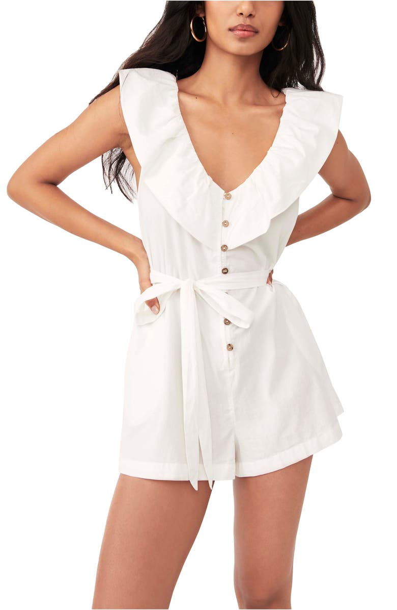 FREE PEOPLE Darling Romper, Main, color, WHITE