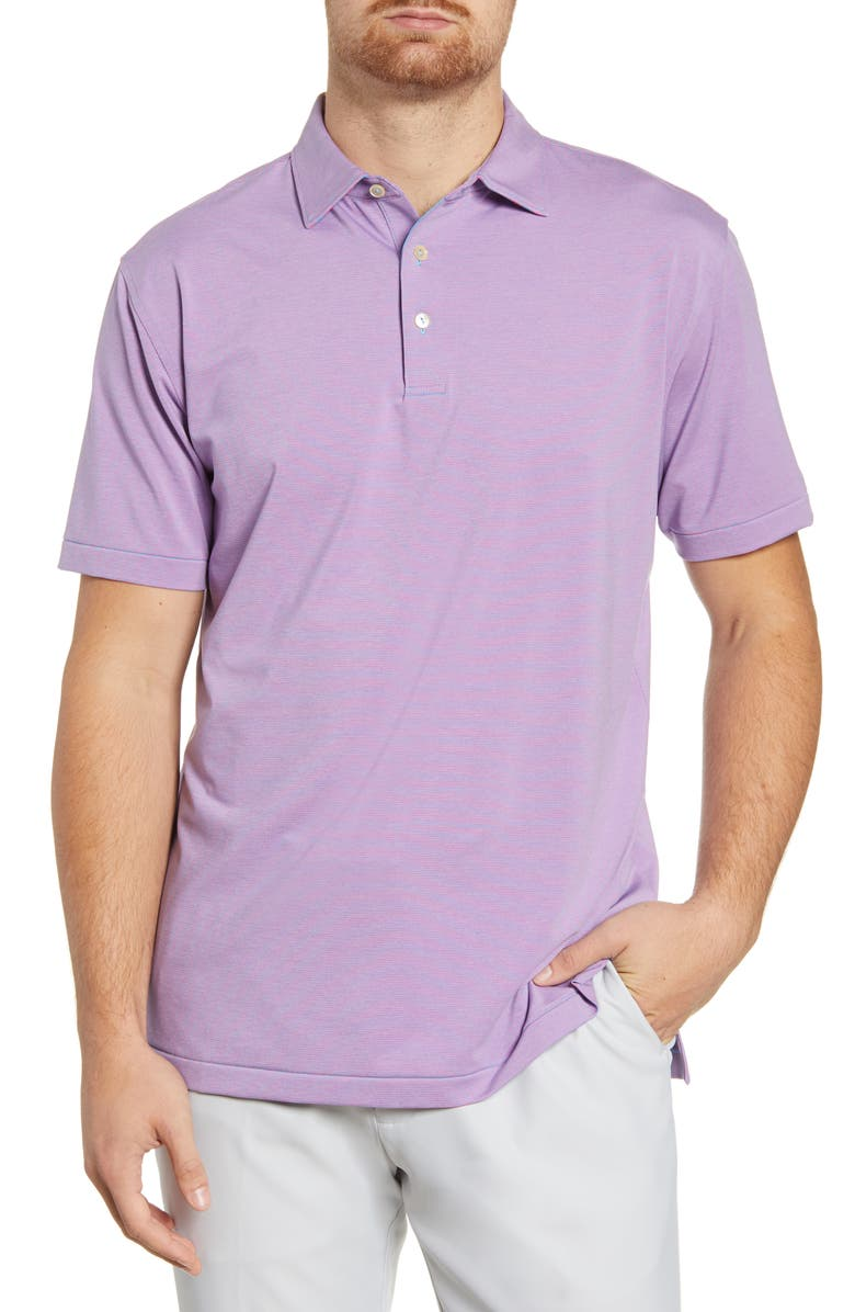 PETER MILLAR Jubilee Stripe Performance Polo, Main, color, 125
