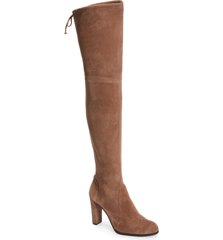 STUART WEITZMAN Highland Over The Knee Boot, Main, color, TAUPE SUEDE
