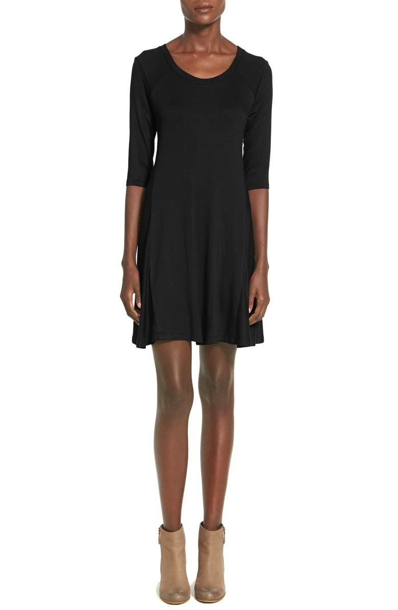 ALL IN FAVOR Shift Dress, Main, color, 001