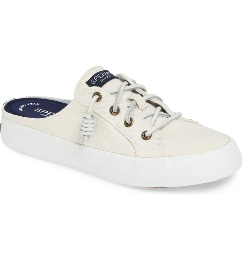 SPERRY Crest Vibe Mule, Main, color, WHITE CANVAS