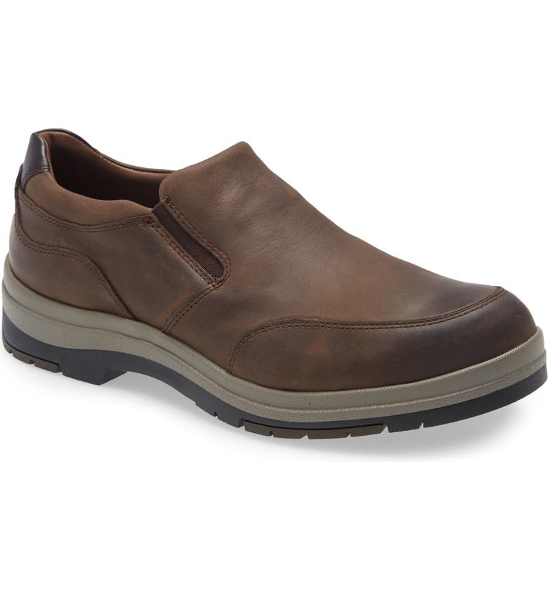 JOHNSTON & MURPHY XC4 Cahill Waterproof Slip-On, Main, color, STONE OILED LEATHER
