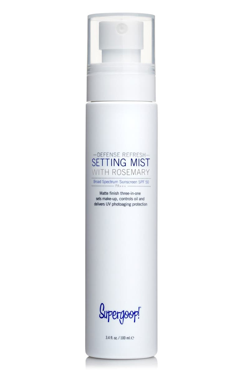 SUPERGOOP!<SUP>®</SUP> Supergoop! Defense Refresh Setting Mist with Rosemary SPF 50, Main, color, 000