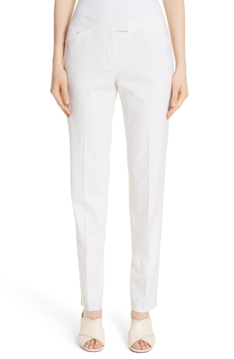 LAFAYETTE 148 NEW YORK Irving Stretch Wool Pants, Main, color, 900