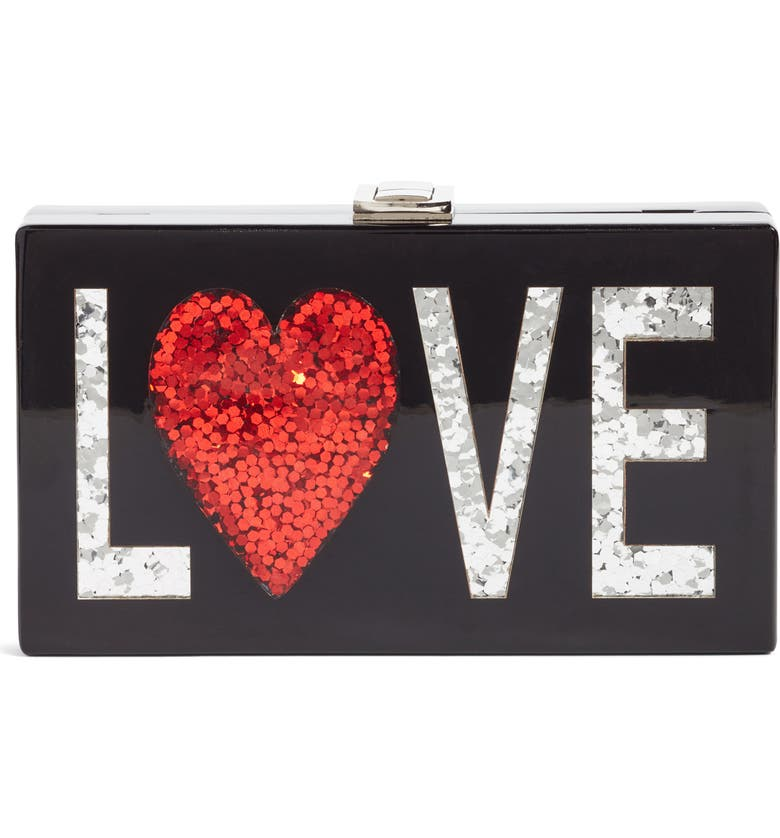 NORDSTROM Love Box Clutch, Main, color, 001