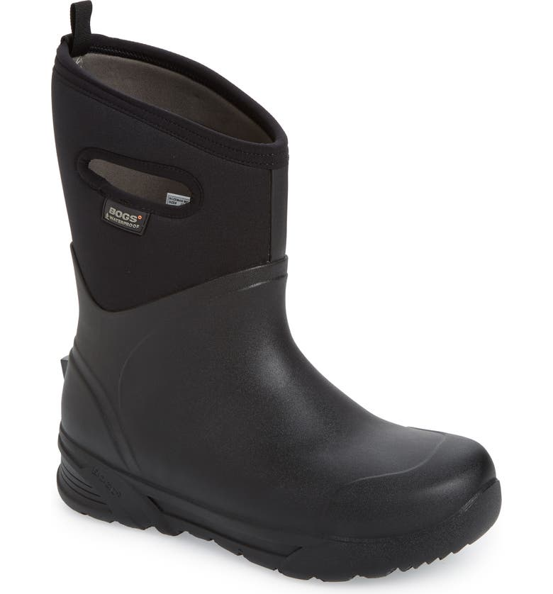 BOGS Bozeman Mid Waterproof Boot, Main, color, BLACK