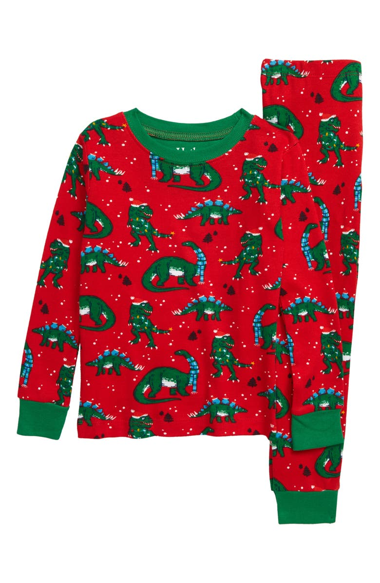 HATLEY Festive Dinos Fitted Two-Piece Pajamas, Main, color, 600