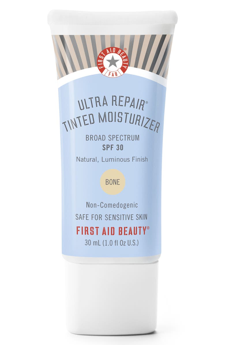 FIRST AID BEAUTY Ultra Repair Tinted Moisturizer Broad Spectrum SPF 30, Main, color, BONE