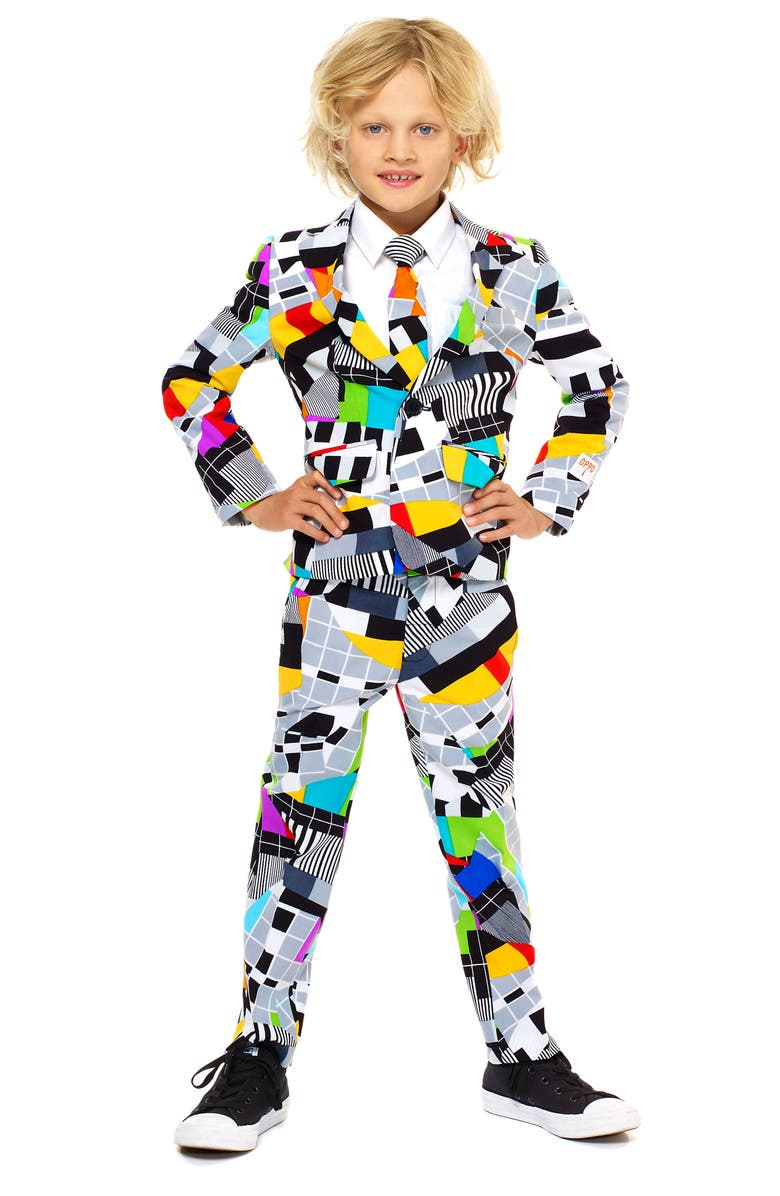OPPOSUITS Testival Two-Piece Suit with Tie, Main, color, MISCELLANEOUS