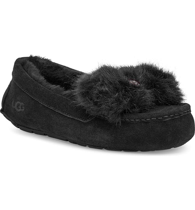 UGG<SUP>®</SUP> Ansley Bow Slipper, Main, color, 001