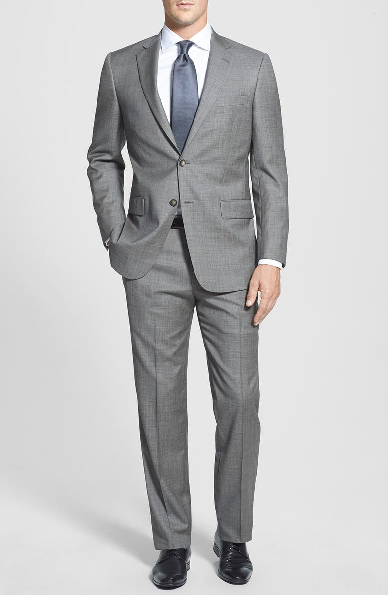 HART SCHAFFNER MARX 'New York' Classic Fit Wool Suit, Main, color, GREY